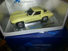 1/18 SCALE 1967 CHEVY CORVETTE STINGRAY IN YELLOW BY EXOTO INC.