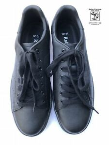 RABEN Raben Premium Leather Lace up Sneakers in Black