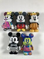 "LOT OF 5 ASSORTED VINYLMATION 3"" FIGURES Disney Mickey Pirates Pixar D Tour"