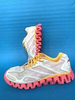 Reebok ZigTech Women's Athletic Running Walking Shoes Size 4.5 Sneaker Blue Pink
