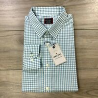 UNTUCKit Men's Long Sleeve Button Front Dress Shirt Casual Blue Check Size XXL