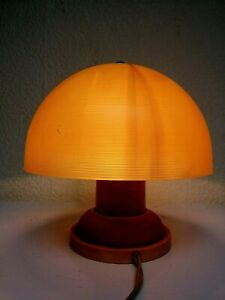 Vintage USSR Space Age Mid-Century Desk Lamp Tiny 18 cm Night Light Mushroom.