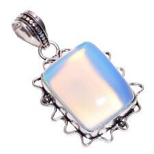 925 Sterlingsilber Overlay handgemacht milchig opal anhänger nlg-212 Mädchen