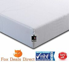 BREASLEY UNO Vitality Cool Memory Foam Mattress 6ft Super King 10year Guarantee