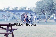EKTACHROME 35mm Slide Playground Swings Monkey Bars Children Men Women 1973 L@@K
