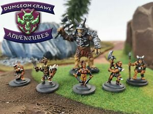 Orc Warband and Troll - 11 Miniatures for a fun D&D or Pathfinder RPG Encounter