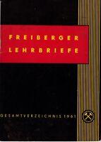 Freiberger Lehrbriefe Gesamtverzeichnis 1961, Katalog Bergbau DDR GDR Freiberg