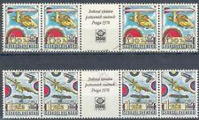 Tschechoslowakei 2x 4er Streifen mit ZF 1978o Briefmarkenaustellung