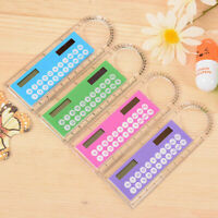 Solar Calculator Fashion Multifunction 10CM Ruler School Student Office New D0S1