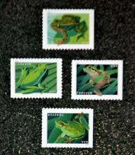 2019USA Forever Frogs - Set of 4 Singles From Booklet of 20  Mint