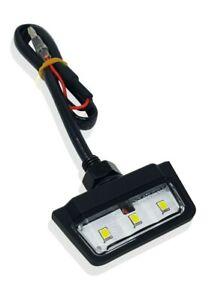 E-geprüft LED Kennzeichenbeleuchtung Schwarz  Motorrad Quad ATV Universal