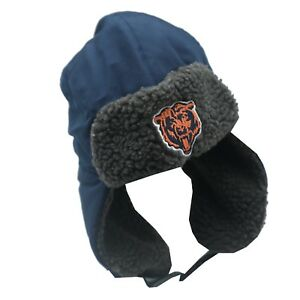 NFL Chicago Bears Youth Boys One Size Fits Most Winter Trapper Hat Cap New Tags