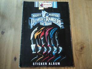 Merlin Mighty Morphin Power Rangers The Movie Sticker Album - Part filled Book
