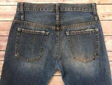 "Calvin Rucker ""Love Me"" Distress Destroy Boyfriend Jeans Women's 26 Made in USA"