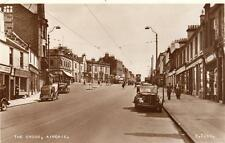 Airdrie the Cross Motor Car RP old pc used 1954 Valentines