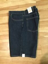 Men's Demin Style 5 Pocket  Shorts by St John's Bay   Size 38 **** Dark wash