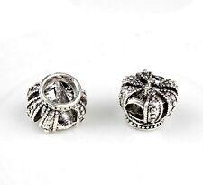 925 Sterling Silver Royal Crown charm bead in velvet gift bag European bracelet