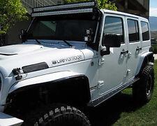 """50"""" 52"""" LED Light Bar Steel Windshield Mounting Brackets For Jeep Wrangler JK TJ"""
