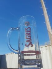 Sagres  Glass Beer pint Tankards  heavy glass cerveja Portuguesa