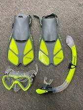 Preowned Seavenger Scuba Snorkel Set (Yellow)