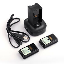 Charging Station Charger Dock Base+2X 4800mAh Rechargeable Battery for Xbox 360
