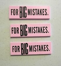 3 NEW LARGE ERASERS FOR GREAT BIG MISTAKES NOVELTY GAG GIFT SCHOOL PARTY FAVORS