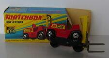 Matchbox - Superfast - MB 15 Fork Lift Truck -OVP - schwarze Bodenplatte