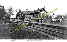 Stow Bedon Railway Station Photo. Wretham - Watton. Thetford to Swaffham. (2)