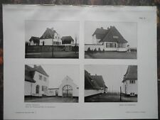 1909 Lübeck JHäuser der Friedhofsangestellten am Zentralfriedhof