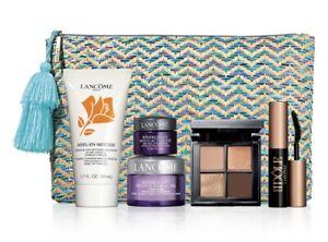 Lancome Macy's 6 Pc Skincare & Makeup Set Face & Eye cream,Eyeshadow SEALED BAG