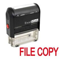 FILE COPY - ExcelMark Self Inking Rubber Stamp A1539 - Red Ink