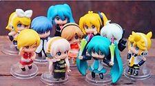 Vocaloid HATSUNE MIKU 10pc Cute Minifigure Set Rin Len Meiko Neru Kaito Haku