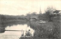 POSTCARD     DERBYSHIRE   REPTON   Old  Trent  Bridge  &  Church