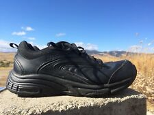 37856930f14c Reebok Mens SZ 8.5 Wide Black Slip   Oil Resistant Lace Up Work Shoes  Preowned