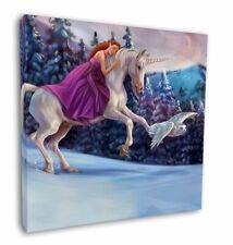 "Unicorn, Owl & Fairy 12""x12"" Wall Art Canvas Decor, Picture Print, UC-3-C12"