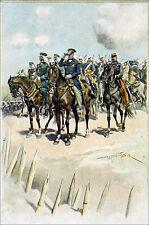 INDOCHINE - LE VICE-AMIRAL CHARNER devant KI-HOA - Gravure du 19e s. en couleur