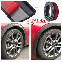 Universal 2x4.5cm/1.5m Rubber Car Fender Flare Wheel Eyebrow Trim Protector Lip
