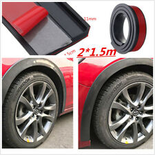 Universal 2x4.5cm/1.5m Rubber Car Fender Flare Wheel Eyebrow Trim Protector Lip