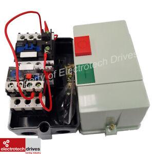 Electric Motor DOL Starter 240V OR 415V PreWired Contactor Overload Fitted 25AMP