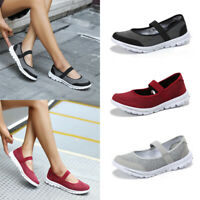 Womens Canvas Shoes Slip On Casual Sneakers Kicks Sport Tennis Flats Size 6-9