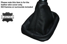 BLACK STITCHING MANUAL LEATHER SKIN GEAR GAITER FITS HYUNDAI IX35 2010-2015