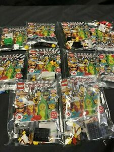LEGO Minifigures 71027 Series 20 x 10 figures opened and sealed some duplicates