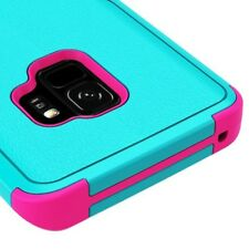 SAMSUNG GALAXY S9 G960 TURQUOISE PINK DUAL LAYER TUFF CASE IMPACT RUBBER COVER