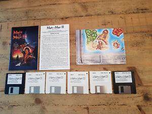 """Might & Magic III: Isles of Terra, New World Computing, Amiga, 3,5"""" disks."""