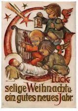 """vintage unused greeting cards  ARS SACRA B.I.Hummel """"merry christmas """"3771"""""""