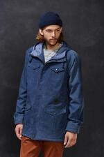 NEW NWT MEN'S BURTON DRYRIDE BLUE MATCH WATER RISTANT WAXED JACKET SIZE MEDIUM