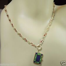 "Antique 14K Yellow Gold Necklace Chain 19"" Enamel Art Deco Vintage Estate 17.6Gm"