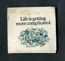 C1980s Advertising Matchbook: Barclays Bank: Life is Getting More Complicated