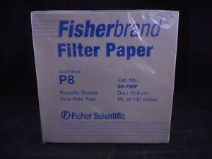 FISHERBRAND P8 Qualitative Plain Filter Paper Circles Course 150mm 09-795F 100PK