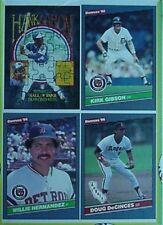 1986 DONRUSS UNCUT BOX PANEL (KIRK GIBSON, HANK AARON, WILLIE HERNANDEZ, DECINCE